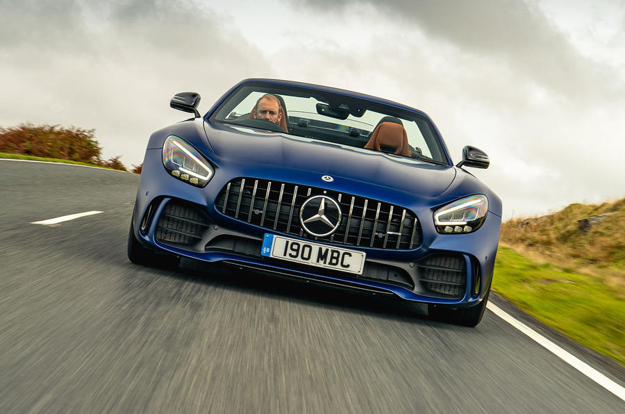 Mercedes-AMG GT R Roadster 2019 UK first drive review - on the road nose