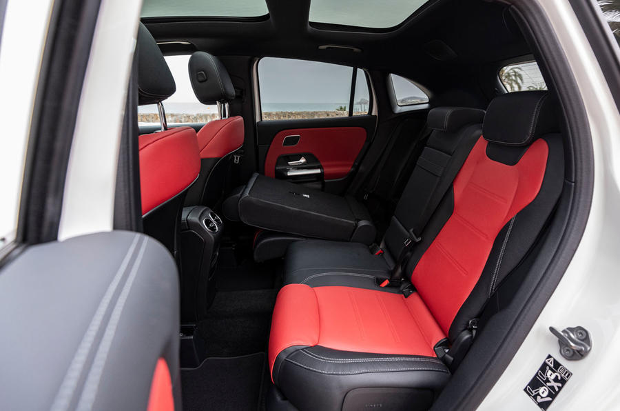 Mercedes-Benz GLA 2020 UK first drive review - rear seats