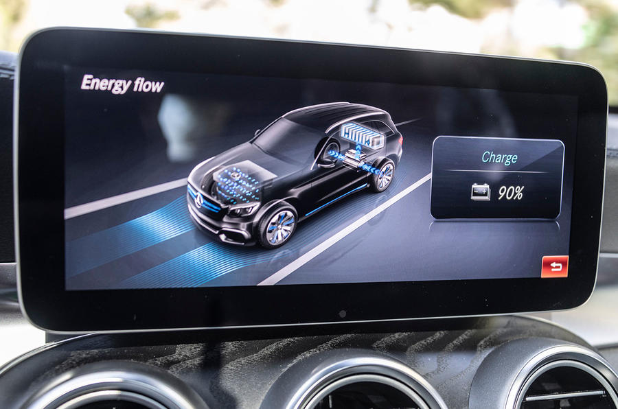 Mercedes-Benz GLC F-Cell 2018 first drive review - infotainment charging
