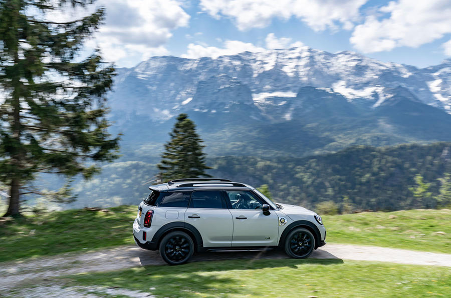 Mini Countryman Cooper S E All4 2020 first drive review - on the road side
