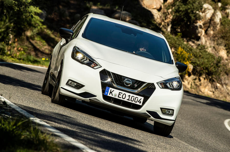 Nissan Micra 2019 first drive review - cornering front