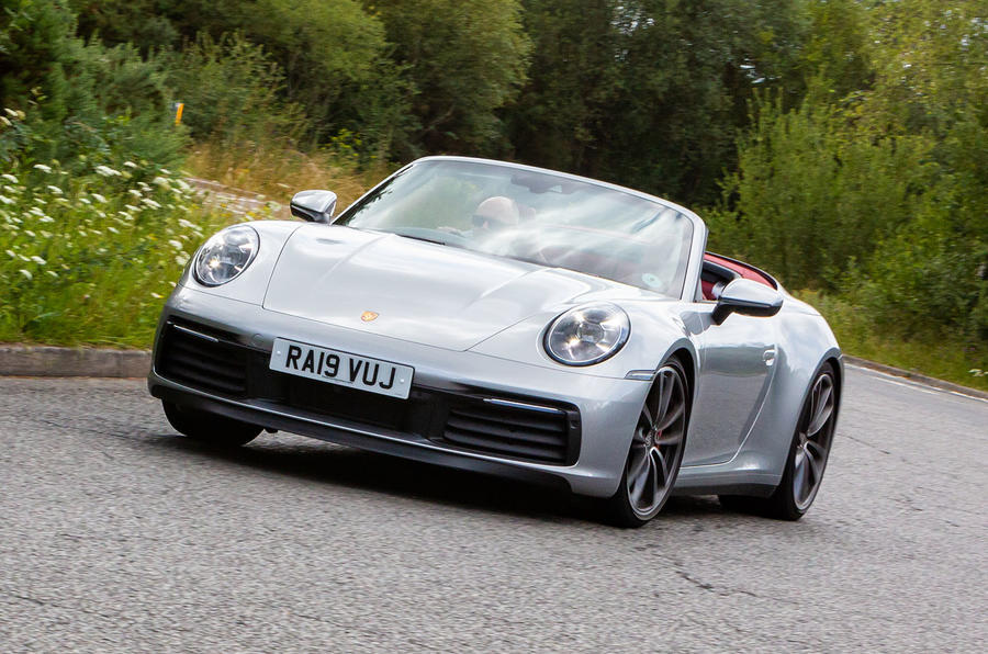 Porsche 911 Carrera 4S Cabriolet 2019 UK first drive review - on the road front