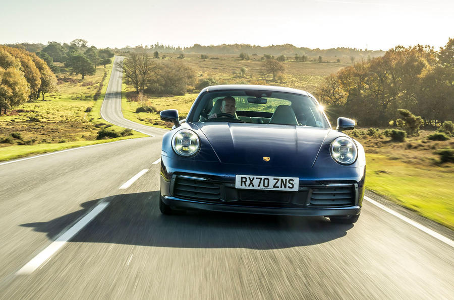 Porsche 911 Carrera S manual 2020 first drive review - on the road nose