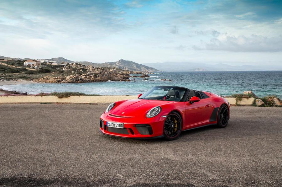 Porsche 911 Speedster 2019 first drive review - static front