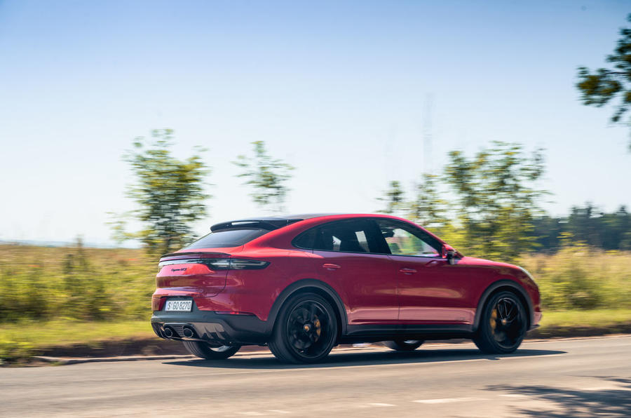 Porsche Cayenne GTS 2020 UK first drive review - on the road rear