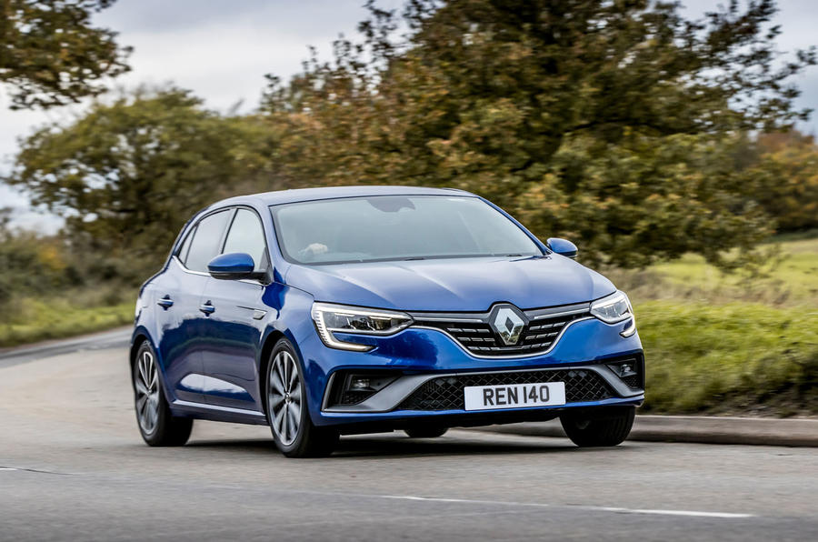 Renault Megane Sport 2020 UK first drive review - cornering front