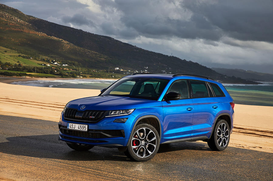 Skoda Kodiaq vRS 2018 first drive review - static front