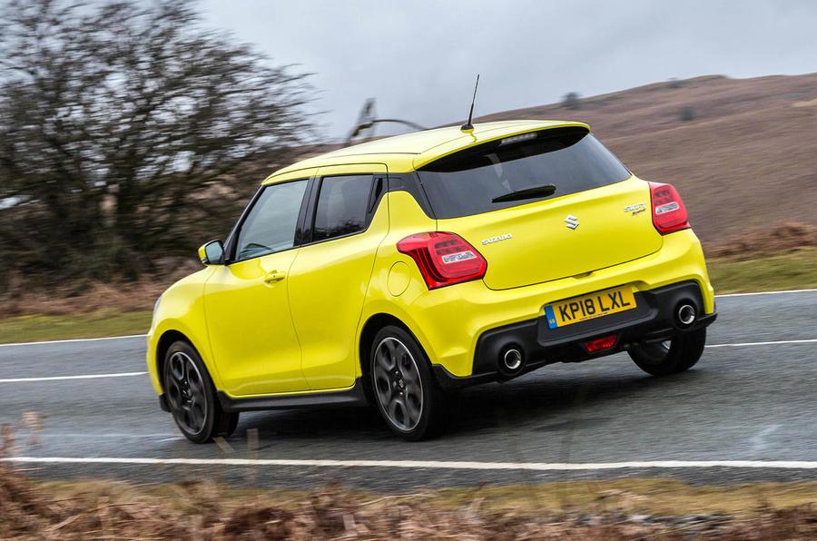 Suzuki Swift Sport 2018 review on the road rear