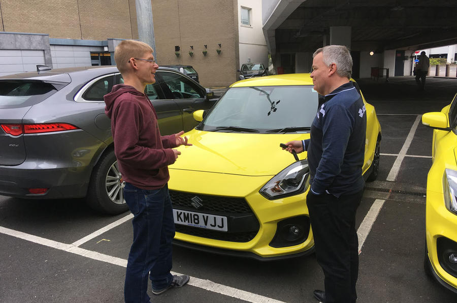 Suzuki Swift Sport 2018 long-term review James Attwood collecting keys