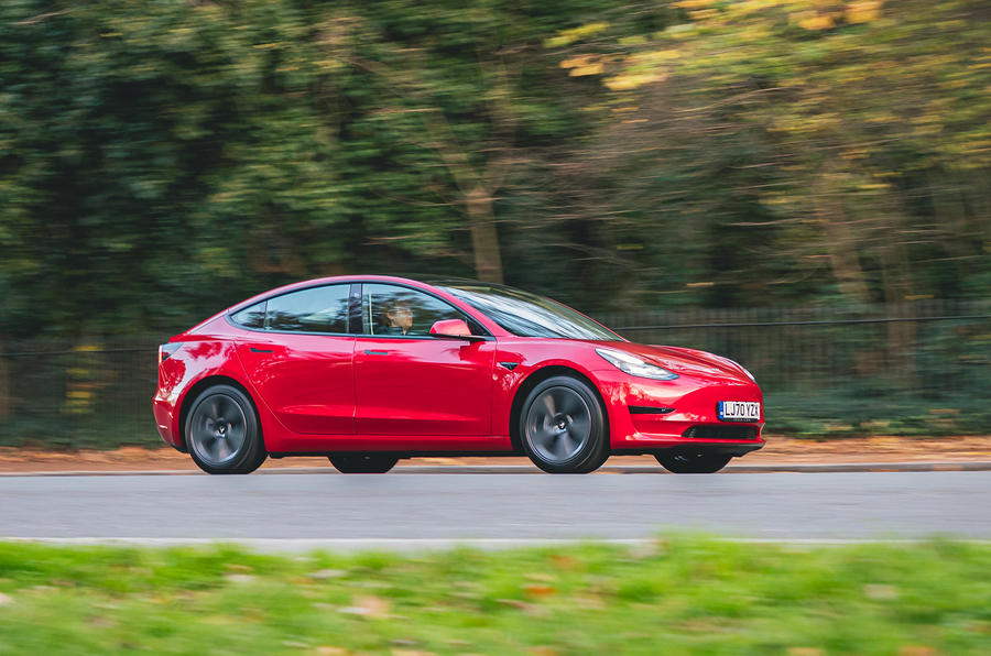 Tesla Model 3 Standard plus 2020 UK first drive review - on the road front
