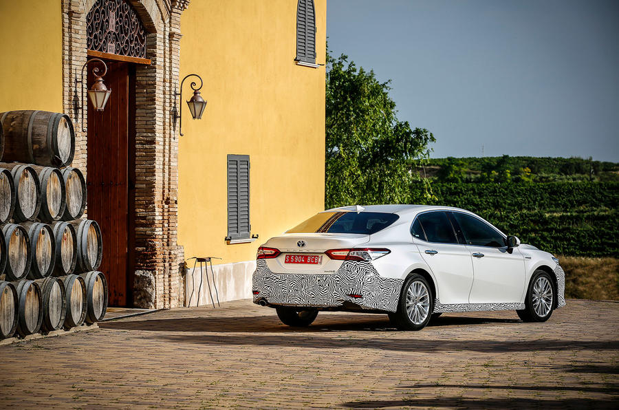 Toyota Camry 2019 first drive review static rear