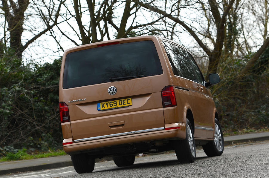Volkswagen Caravelle 2020 UK first drive review - cornering rear