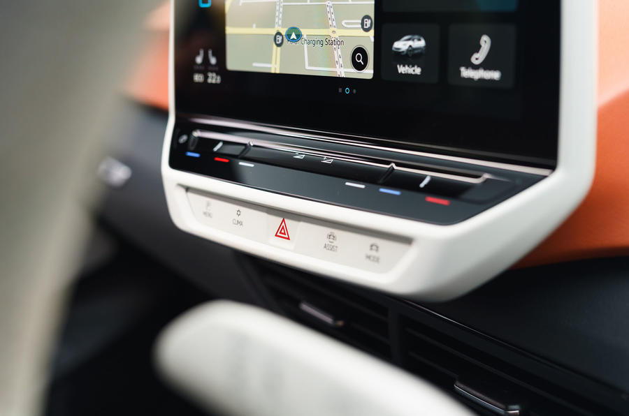 Volkswagen ID 3 2020 UK first drive review - touch controls