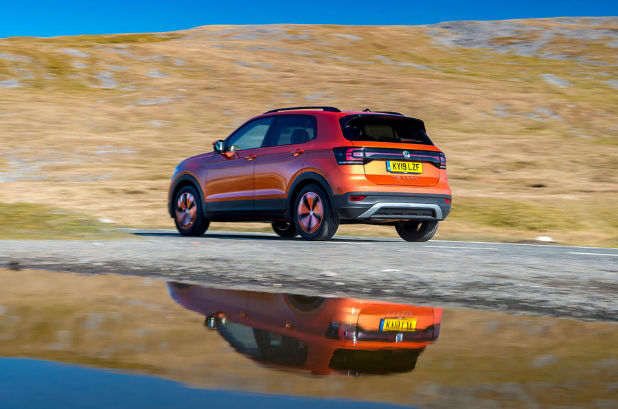 Volkswagen T-Cross 2019 UK first drive review - on the road water