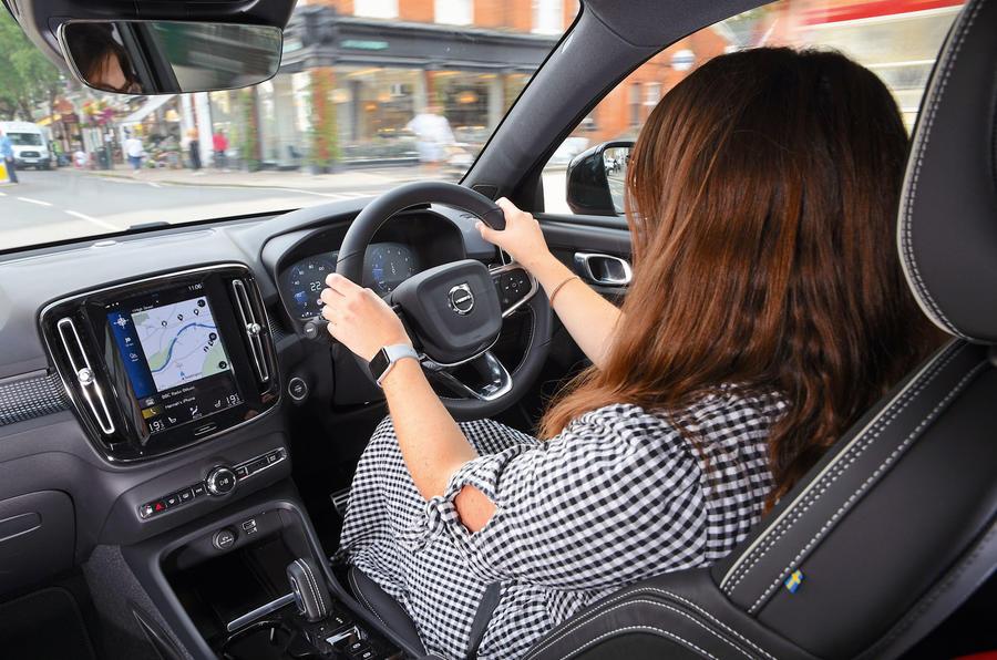 Volvo XC40 2018 long-term review - Rachel Burgess driving