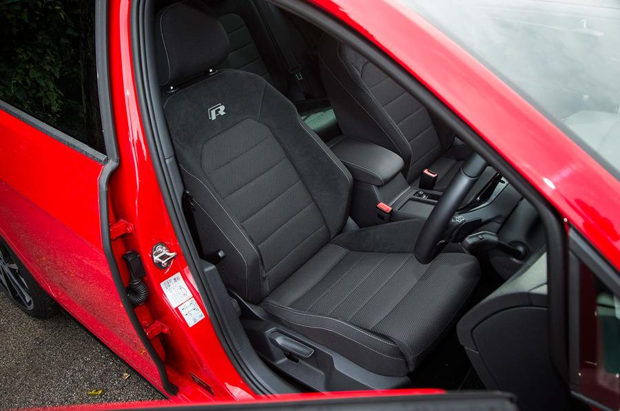 Volkswagen Golf R Estate performance pack 2018 UK review front seats