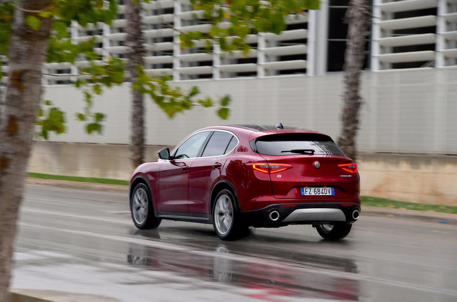 Alfa Romeo Stelvio Ti 2019 first drive review - on the road rear