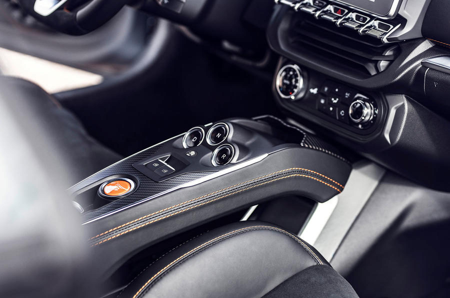 Alpine A110S 2019 first drive review - centre console