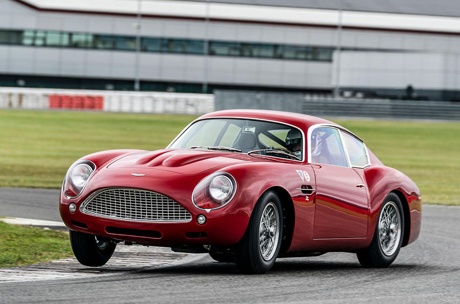 Aston Martin DB4 Zagato Continuation 2019 first drive review - cornering front