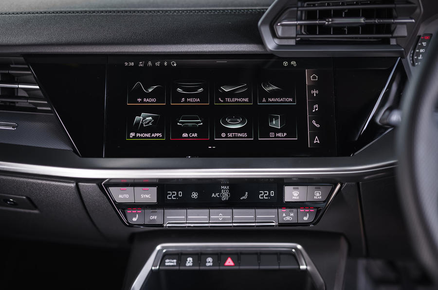 Audi A3 Sportback 2020 UK first drive review - climate controls