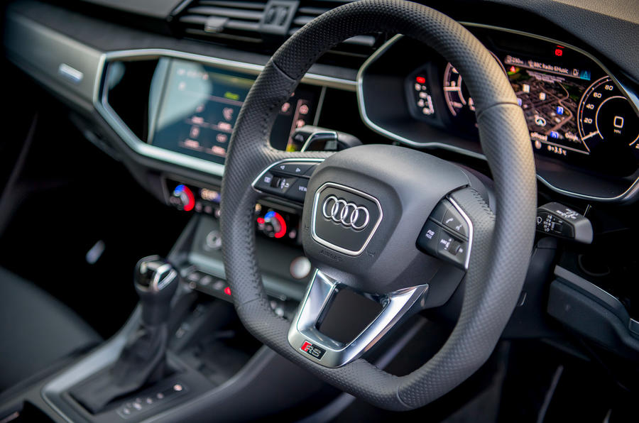 Audi RS Q3 Sportback 2019 UK first drive review - steering wheel