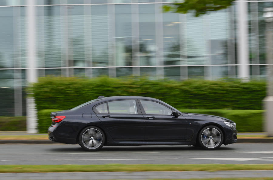 BMW 7 Series 740Ld long-term review on the road side