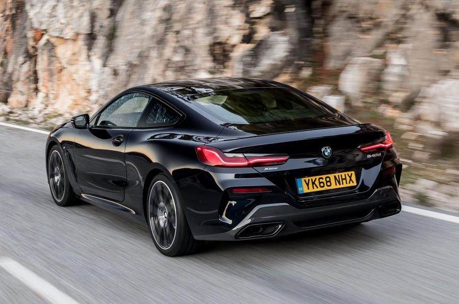 BMW 840d 2019 first drive review - on the road rear