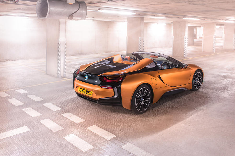 BMW i8 Roadster 2018 UK first drive review - static rear