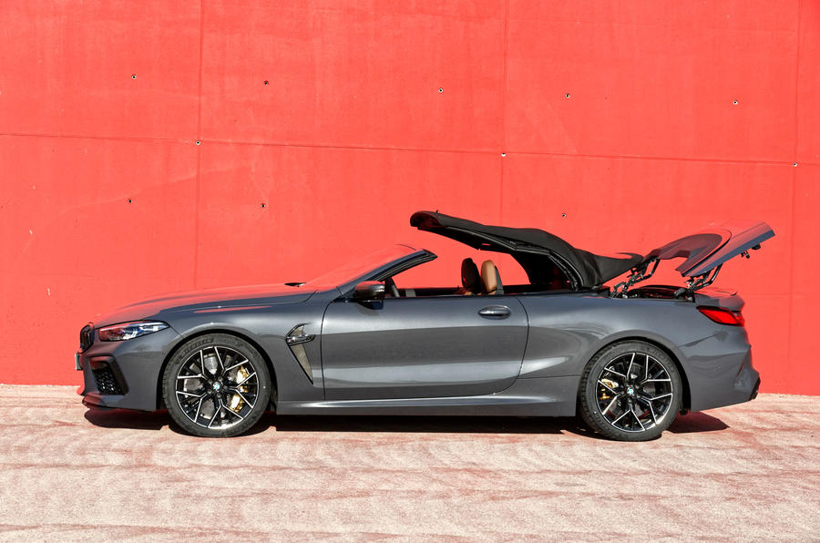 BMW M8 Competition Convertible 2019 first drive review - roof