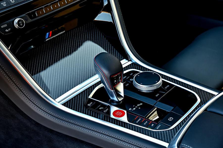 BMW M8 Competition Coupé 2019 first drive review - centre console