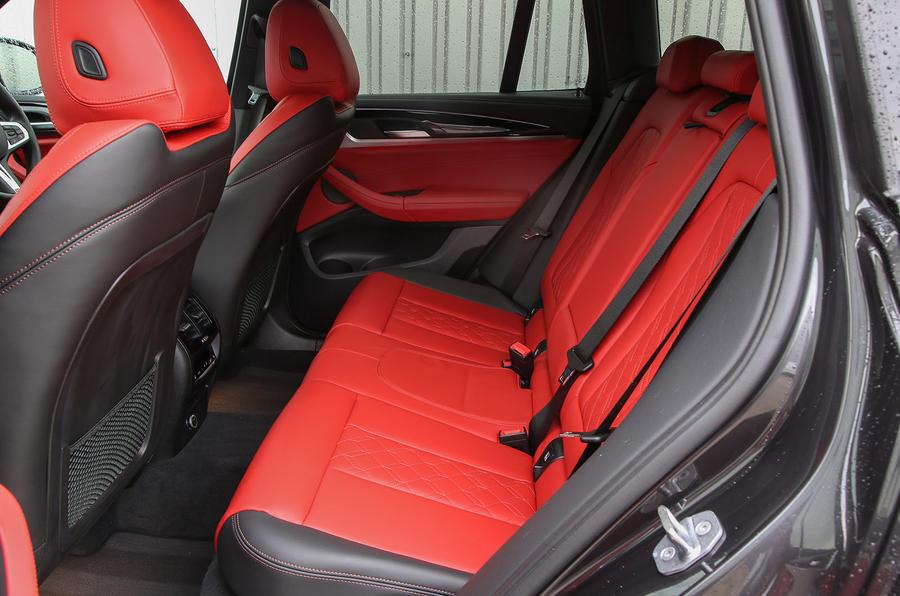 BMW X3 M40i 2018 UK review rear seats