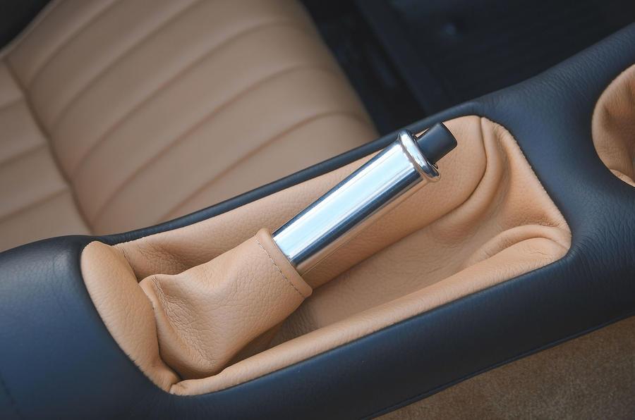 Caterham Super Seven 1600 2020 UK first drive review - handbrake