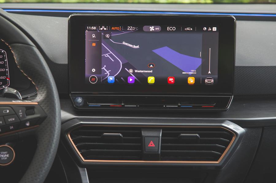 Cupra Leon 2020 LHD : premier bilan de la conduite au Royaume-Uni - infotainment