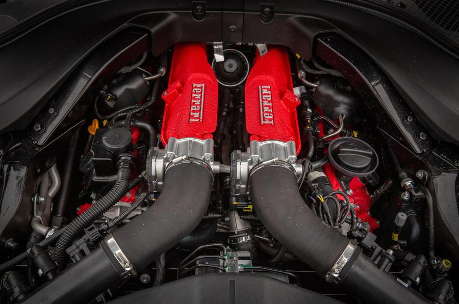 Ferrari Roma 2021 : premier examen de conduite au Royaume-Uni - moteur