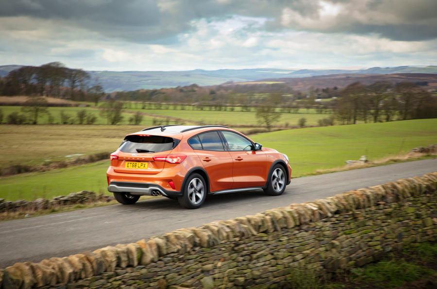 Ford Focus Active 2019 first drive review - on the road rear