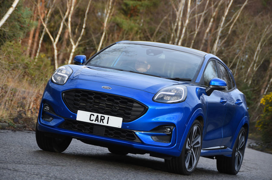 Ford Puma ST Line X 2020 UK first drive review - on the road front