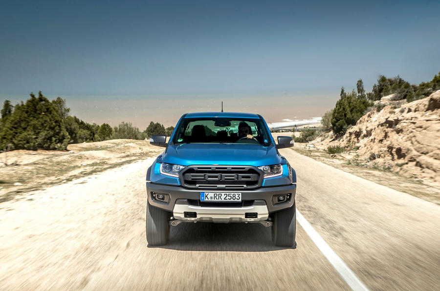 Ford Ranger Raptor 2019 first drive review - on the road nose
