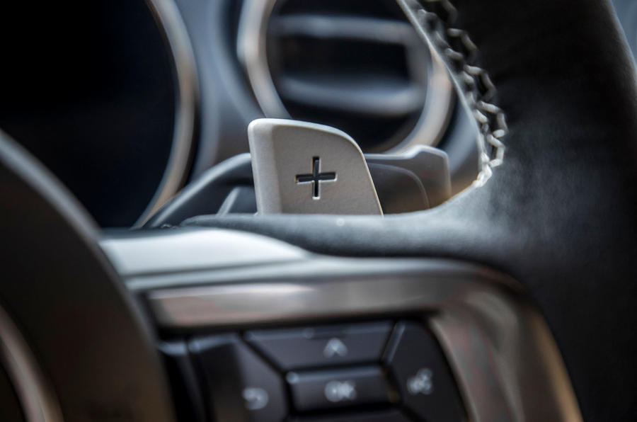 Ford Shelby Mustang GT500 2020 first drive review - paddle shifters