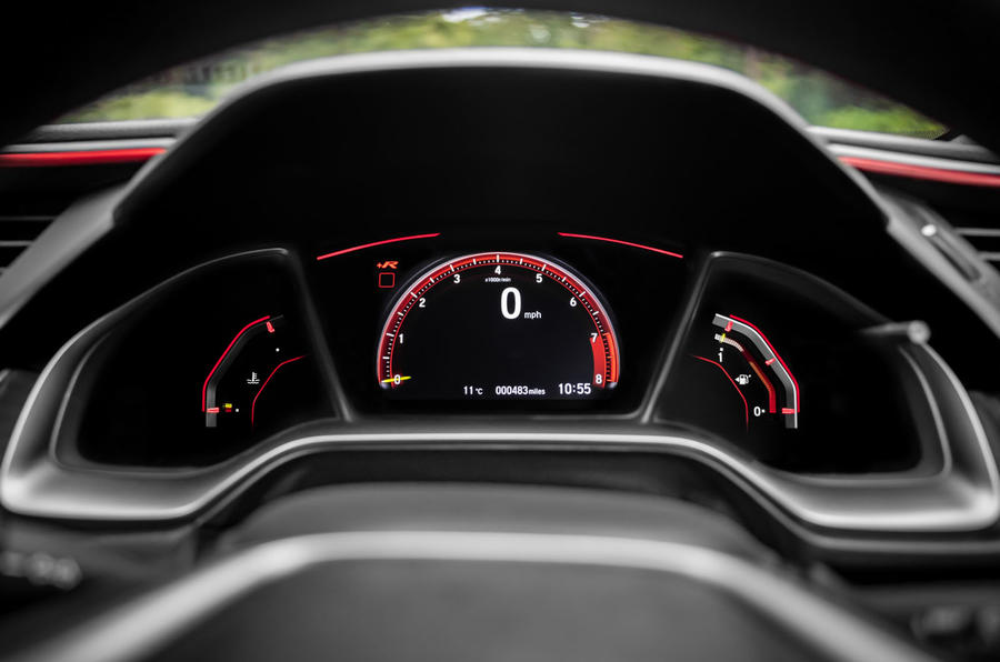 Honda Civic Type R 2020 UK first drive review - instruments