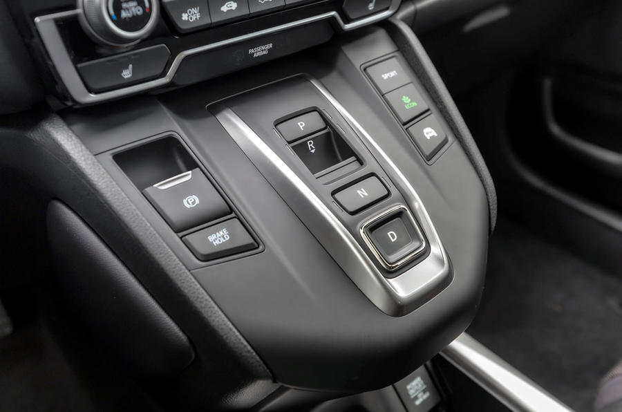 Honda CR-V hybrid 2019 first drive review - centre console