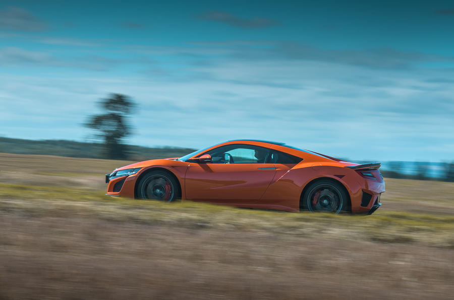 Honda NSX 2019 UK first drive review - on the road side