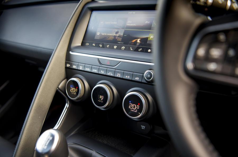 Jaguar E-Pace D150 2018 review climate control