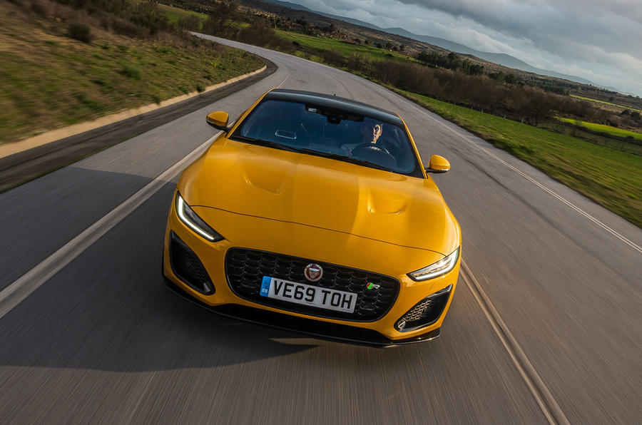Jaguar F-Type Coupé 2020 first drive review - on the road nose