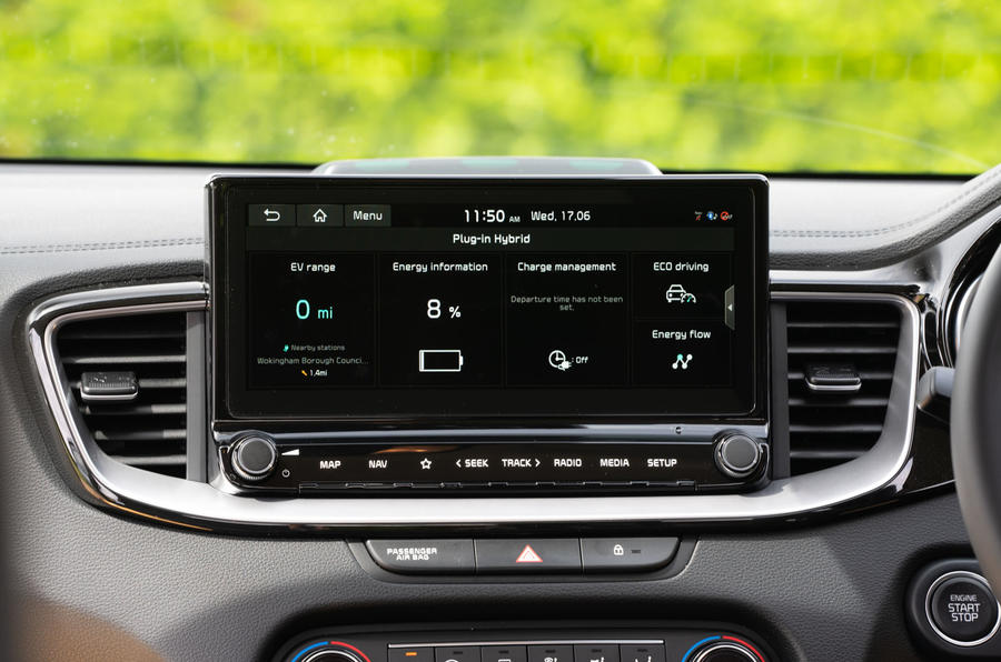 Kia Xceed plug-in hybrid 2020 UK first drive review - charging information