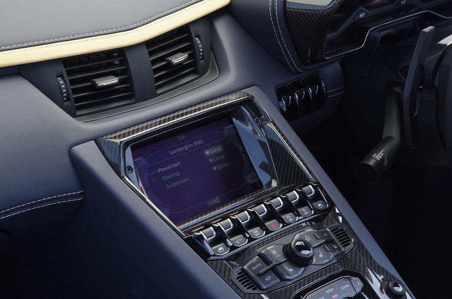 Lamborghini Aventador S 2018 first drive review infotainment