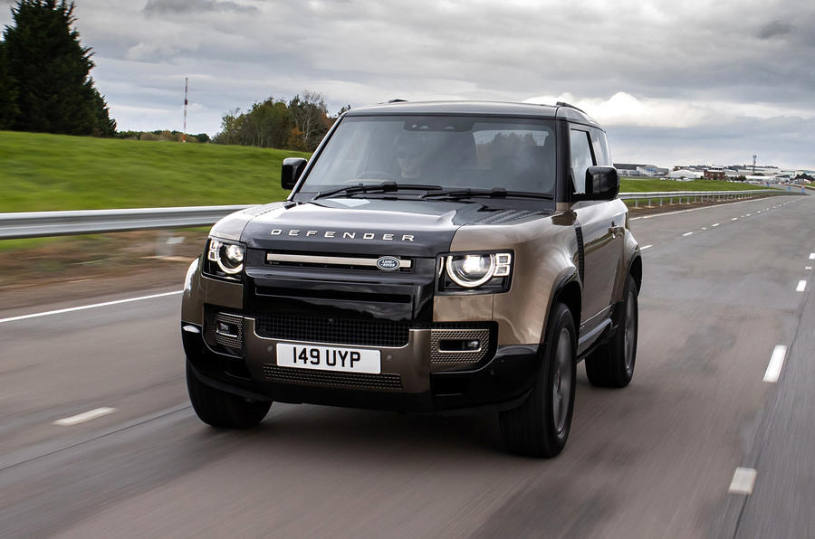 Land Rover Defender 90 P400 X 2020 UK first drive review - on the road nose