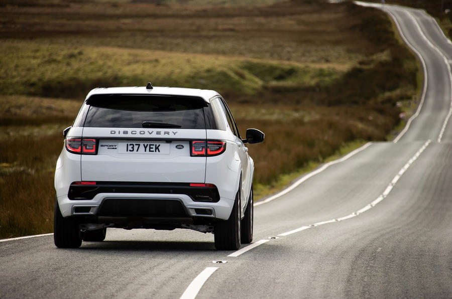 Land Rover Discovery Sport P300 PHEV 2020 UK first drive review - cornering rear