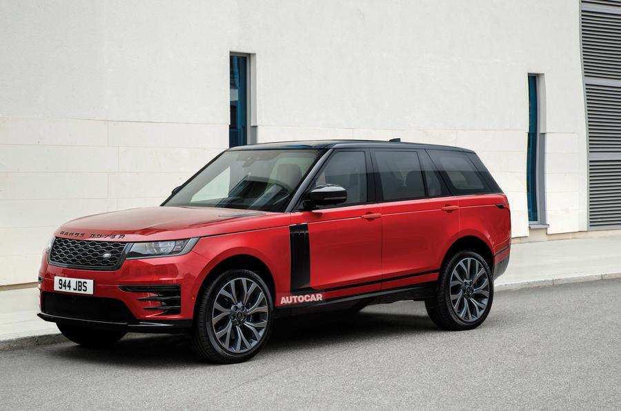 Land Rover Mk5 Range Rover render - static front
