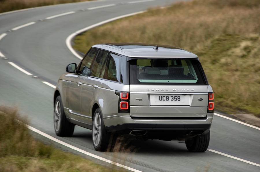 Land Rover Range Rover D350 mild hybrid 2020 UK first drive review - on the road rear