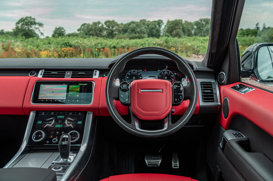 Land Rover Range Rover Sport HST 2019 UK first drive review - dashboard
